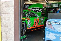 Fontana, CA/USA (Saturday, March 23, 2013) -  NASCAR Sprint Cup Series Driver Danica Patrick car #10 gets ready for practice at GoDaddy's garage at the Auto Club Speedway in Fontana, CA.  PHOTO © Eduardo E. Silva/SILVEX.PHOTOSHELTER.COM.