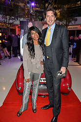 SINITTA and JASON GALE at a private view of Marilyn - The Legacy of a Legend held at the Design Centre, Chelsea Harbour, London on 25th May 2016.