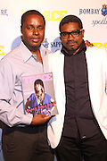 l to r: Claude Grunitzky and Marc Baptiste at the Trace Magazine annual launch for ' Black Girls Rule ' issue held at Merkato 55 on August 19, 2008