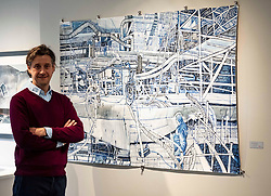 Pictured: Lachlan Goudie spent time in the Glasgow shipyards to capture the never ending complications of ship building to create Heavy Engineering (2020)<br /><br />Lachlan Goudie's exhibition Once Upon A Time, inspired by fairy-tales and his experiences during lockdown, runs at The Scottish Gallery in Edinburgh from 28th October – 25th November<br />Ger Harley   EEm 28 October 2020