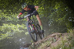 Ulcar Matic of Calcit Bike Team during the race of XCO National Championship of Slovenia 2021 on 27.06.2021 in Kamnik, Slovenia. Photo by Urban Meglič / Sportida