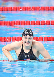 HANGZHOU, Dec. 16, 2018  Kelsi Dahlia of the United States celebrates after winning Women's 100m Butterfly Final at 14th FINA World Swimming Championships (25m) in Hangzhou, east China's Zhejiang Province, on Dec. 16, 2018. Kelsi Dahlia claimed the title with 55.01. (Credit Image: © Xinhua via ZUMA Wire)