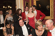 centre: LADY ALICE MANNERS, Charlton Hunt Ball at Goodwood House.  6 February 2016