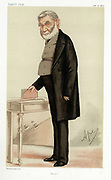 Anthony Panizzi (1797-1879) Italian bibliographer. Fled the 1821 revolution in Italy. Became Chief Librarian at British Museum (1856-1866). Designed the Reading Room. 'Ape' (Carlo Pellegrini) cartoon from 'Vanity Fair', London, 17 January 1874.