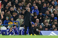 Jose Mourinho, the Chelsea Manager shouts at his players from the touchline. Barclays Premier league match, Chelsea v AFC Bournemouth at Stamford Bridge in London on Saturday 5th December 2015.<br /> pic by John Patrick Fletcher, Andrew Orchard sports photography.