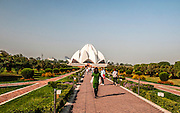 India, Delhi, The Bahai Lotus temple,
