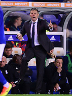 Steve Cotterill, the manager of Birmingham city  .EFL Skybet championship match, Birmingham city v Cardiff city at St.Andrew's stadium in Birmingham, the Midlands on Friday 13th October 2017.<br /> pic by Bradley Collyer, Andrew Orchard sports photography.