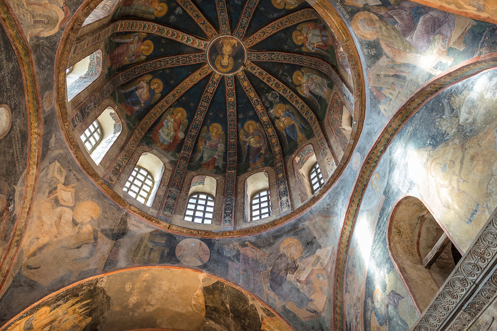 The Chora Kariye Church in Istanbul, Turkey. Built in AD 527–65, it is considered to be one of the most beautiful surviving examples of a Byzantine church.