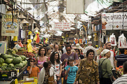 Customers shopping in the Mahane Yahuda Market, Jerusalem, Israel