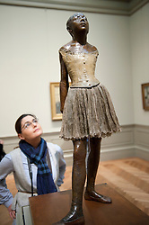 The Little Fourteen Year Old Dancer by Edger Degas at Metropolitan Museum of Art in Manhattan , New York City, USA