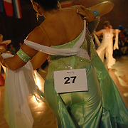 Sharon Vickers., foreground, and Hayley Pereira, both of Reading, England, compete in the adult women's standard division of the same-sex ballroom dancing competition during the 2007 Eurogames at the Waagnatie hangar in Antwerp, Belgium on July 14, 2007. ..Over 3,000 LGBT athletes competed in 11 sports, including same-sex dance, during the 11th annual European gay sporting event. Same-sex ballroom is a growing sports that has been happening in Europe for over two decades.