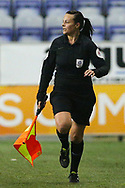 Assistant Referee Lisa Rashid during the EFL Sky Bet League 1 match between Wigan Athletic and Charlton Athletic at the DW Stadium, Wigan, England on 2 March 2021.