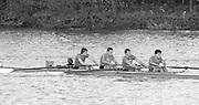 London, Great Britain.<br /> Coxed Four, competing in the  1986 Fours Head of the River Race, Reverse Championship Course Mortlake to Putney. River Thames. Saturday, 15.11.1986<br /> <br /> [Mandatory Credit: Peter SPURRIER;Intersport images] 15.11.1986