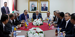May 5, 2018 - Jenin, West Bank, Palestinian Territory - Palestinian Prime Minister Rami Hamdallah chairs a meeting with security chiefs in the West Bank city of Jenin on May 5, 2018  (Credit Image: © Prime Minister Office/APA Images via ZUMA Wire)