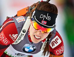 "19.01.2012, Südtirol Arena, Antholz, ITA, E.ON IBU Weltcup, 6. Biathlon, Antholz, Sprint Damen, im Bild Synnoeve Solemdal (NOR) // Synnoeve Solemdal (NOR) during Sprint Women E.ON IBU World Cup 6th, ""South Tyrol Arena"", Antholz-Anterselva, Italy on 2012/01/19, EXPA Pictures © 2012, PhotoCredit: EXPA/ Juergen Feichter"