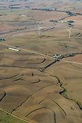 Aerial photograph of rural farmland in Crawford County, Iowa, USA.