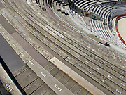 seats in the empty Amphitheater Arles France