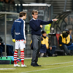 (L-R) Craig Goodwin of Sparta Rotterdam, coach Alex Pastoor of Sparta Rotterdam during the Dutch Eredivisie match between sbv Excelsior Rotterdam and Sparta Rotterdam at Van Donge & De Roo stadium on October 21, 2017 in Rotterdam, The Netherlands