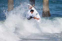 July 31, 2018 - Huntington Beach, California, United States - Huntington Beach, CA - Tuesday July 31, 2018: Hiroto Ohhara in action during a World Surf League (WSL) Qualifying Series (QS) Men's round of 96 heat at the 2018 Vans U.S. Open of Surfing on South side of the Huntington Beach pier. (Credit Image: © Michael Janosz/ISIPhotos via ZUMA Wire)