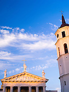 Sunset view of the Vilnius Cathedral, Vilnius, Lithuania