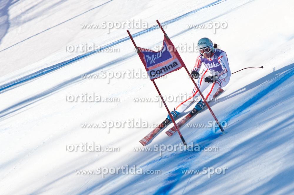22.01.2011, Tofana, Cortina d Ampezzo, ITA, FIS World Cup Ski Alpin, Lady, Cortina, Abfahrt, im Bild Marie Marchand-Arvier (FRA, #7) // Marie Marchand-Arvier (FRA) during FIS Ski Worldcup ladies Downhill at pista Tofana in Cortina d Ampezzo, Italy on 22/1/2011. EXPA Pictures © 2011, PhotoCredit: EXPA/ J. Groder