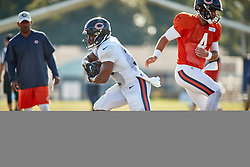 July 28, 2018 - Bourbonnais, IL, U.S. - BOURBONNAIS, IL - JULY 28: Chicago Bears running back Benny Cunningham (30) and Chicago Bears quarterback Chase Daniel (4) participates in drills during the Chicago Bears training camp on July 28, 2018 at Olivet Nazarene University in Bourbonnais, Illinois. (Photo by Robin Alam/Icon Sportswire) (Credit Image: © Robin Alam/Icon SMI via ZUMA Press)