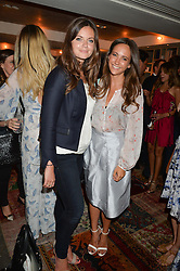 Left to right, LADY NATASHA FINCH and LAVINIA BRENNAN at the Cavan.com Pop-Up sale held at The Belgraves Hotel, 20 Chesham Place, London on 20th May 2014.