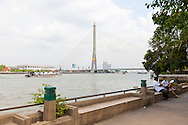 The Rama 8 Bridge as seen from the ferry stop #13