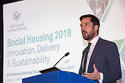 NO FEE PICTURES                                                                                                                                              10/10/19.Minister Eoghan Murphy at the Irish Council for Social Housing (ICSH) Biennial Finance and Development Conference 2019 at the Clayton Whites Hotel, Wexford 10-11 October. The two-day conference brings together 300 delegates including active housing associations, currently facing the challenge of growing their housing stock and making it more environmentally sustainable. At the event, stakeholders from the public, not-for-profit and private sectors will discuss how collaboration and innovation can develop the sector's capacity to build more sustainable and climate resilient communities.Picture: Arthur Carron