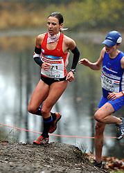 27-11-2011 ATLETIEK: NK CROSS 53e WARANDELOOP: TILBURG<br /> Sabrina Mockenhaupt GER wins the bronze medal<br /> ©2011-FotoHoogendoorn.nl