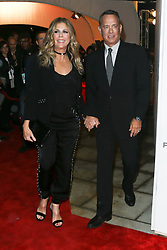 Actors Rita Wilson (L) and Tom Hanks attend 'The Circle' screening during the 2017 TriBeCa Film Festival at at BMCC Tribeca PAC on April 26, 2017 in New York City. (Photo by Debby Wong/imageSPACE) *** Please Use Credit from Credit Field ***