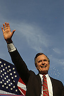 Candidate George Bush at a rally in Columbus, Ohio in  November 1988..Photograph by Dennis Brack bb 27