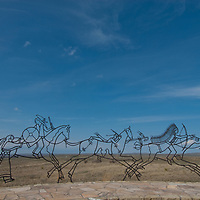 A monument honors American Indian heritage at Montana's Little Bighorn Battlefield National Monument.