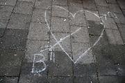Een hart verklaart de liefde van Bram voor Martine.<br /> <br /> A heart is declaring love from Bram to Martine