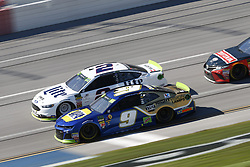 October 14, 2018 - Talladega, Alabama, United States of America - Chase Elliott (9) battles for position during the 1000Bulbs.com 500 at Talladega Superspeedway in Talladega, Alabama. (Credit Image: © Justin R. Noe Asp Inc/ASP via ZUMA Wire)