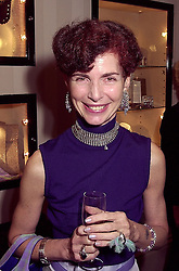 NATHALIE HAMBRO at a party in London on 3rd October 2000.OHN 16