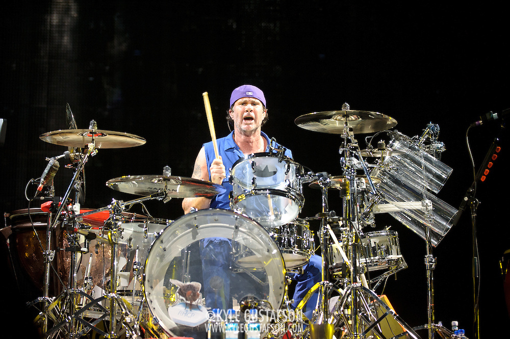 WASHINGTON, DC -  May 8th, 2012 - Chad Smith of the Red Hot Chili Peppers performs at the Verizon Center in Washington, D.C. The band was inducted into the Rock N Roll Hall Of Fame earlier this year and released their 10th studio album, I'm With You, in late 2011. (Photo by Kyle Gustafson/For The Washington Post)