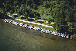 THEMENBILD - Boote am Ufer des Zeller See, aufgenommen am 01. August 2020 in Zell am See, Österreich // Boats on the shore of the Zeller See, Zell am See, Austria on 2020/08/01. EXPA Pictures © 2020, PhotoCredit: EXPA/ JFK