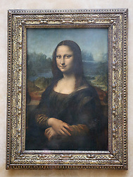 A general view of Leonardo Da Vinci's Mona Lisa which was viewed by the Duchess of Cornwall during a visit to the Louvre Museum in Paris, France.