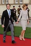 Religious wedding of Grand Duke Guillaume and Princess Stephanie at the Cathedral Notre-Dame in Luxembourg <br /> <br /> On the photo:  Clotilde Courau Princess of Venice and Piedmont