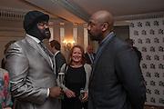 GREGORY PORTER; LENNY HENRY, The Sky South Bank Arts Awards, Dorchester Hotel , Park Lane, London. 1 May 2012.