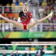 Gymnastics - Olympics: Day 2    Elisabeth Seitz #347 of Germany in action on the Women's Uneven Bars during the Artistic Gymnastics Women's Qualification round at the Rio Olympic Arena on August 7, 2016 in Rio de Janeiro, Brazil. (Photo by Tim Clayton/Corbis via Getty Images)