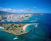 Magic Island, Ala Moana,  Waikiki, Oahu, Hawaii, USA<br />