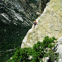 Raichle Farrely climbing All Chalk and no Action, 5.12a, Little Cottonwood Canyon, Utah