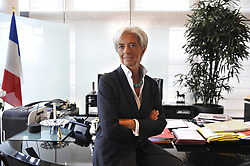 File Photo - Exclusive. French Minister for the Economy, Industry and Employment Christine Lagarde poses in her office at the ministry in Paris, France on October 1st, 2009. The European Council announced Tuesday that Lagarde, the current head of the International Monetary Fund, had been chosen to succeed Mario Draghi as president of the European Central Bank,, whose eight-year term ends in October. Photo by Elodie Gregoire/ABACAPRESS.COM