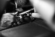 July 10-13, 2014: Canadian Tire Motorsport Park. Lamborghini mechanic