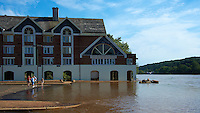 Lambertville Inn. Delaware River at Near Flood Stage after Hurricane Irene. Image taken with a Nikon D700 and 28-300 mm VR lens (ISO 200, 42 mm, f/8, 1/800 sec). Raw image processed with Capture One Pro 6, Nik Define 2, and Photoshop CS5.
