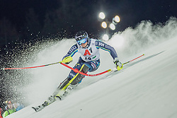 """29.01.2019, Planai, Schladming, AUT, FIS Weltcup Ski Alpin, Slalom, Herren, 1. Lauf, im Bild Andre Myhrer (SWE) // Andre Myhrer of Sweden in action during his 1st run of men's Slalom """"the Nightrace"""" of FIS ski alpine world cup at the Planai in Schladming, Austria on 2019/01/29. EXPA Pictures © 2019, PhotoCredit: EXPA/ Dominik Angerer"""