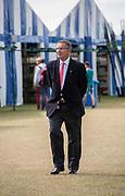 Henley-on-Thames. United Kingdom.  2017 Henley Royal Regatta, Henley Reach, River Thames. <br /> GBR Chief Coach: Jurgen GROBLER, dressed for Henley Regatta, Leander Club Member.<br /> 09:51:10  Sunday  02/07/2017   <br /> <br /> [Mandatory Credit. Intersport Images.
