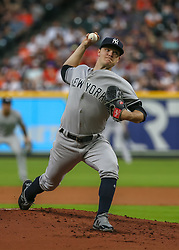April 30, 2018 - Houston, TX, U.S. - HOUSTON, TX - APRIL 30:  New York Yankees starting pitcher Sonny Gray (55) prepares to throw a pitch during the baseball game between the New York Yankees and Houston Astros on April 30, 2018 at Minute Maid Park in Houston, Texas.  (Photo by Leslie Plaza Johnson/Icon Sportswire) (Credit Image: © Leslie Plaza Johnson/Icon SMI via ZUMA Press)